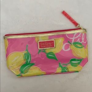 Lilly Pulitzer Estée Lauder Pink Lemon Makeup Bag